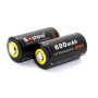 Аккумулятор LiFePO4 16340 / RCR123A  Soshine 600mAh