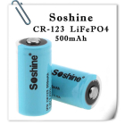 Аккумулятор CR123 Soshine 500mAh 3V LiFePO4