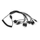 Универсальный зарядный кабель USB 10 в 1 (спираль)