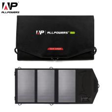 Зарядное устройство на солнечных батареях ALLPOWERS AP-SP-014-BLA с встроенным аккумулятором