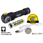 Armytek Wizard Pro v3 Magnet USB+18650 /белый свет/